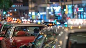 Street View do táxi em Hong Kong fotografia de stock royalty free