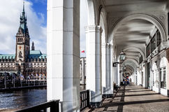 Street view of Downtown Hamburg, germany Stock Photography