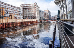 Street view of Downtown Hamburg, germany Royalty Free Stock Photography