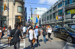 Street view of downtown Toronto Royalty Free Stock Photo