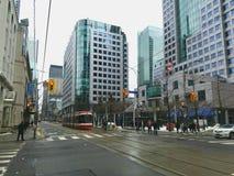 Street view of Downtown Toronto