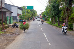 Street view on East Java in Indonesia Royalty Free Stock Images