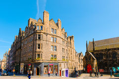 Street view of Edinburgh Stock Image