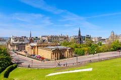 Street view of Edinburgh, Scotland, UK Royalty Free Stock Images
