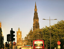 Street view of Edinburgh, Scotland, UK Royalty Free Stock Image