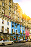 Street view of Edinburgh Stock Photos