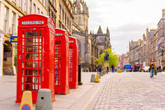 Street view of Edinburgh, Scotland, UK Royalty Free Stock Images