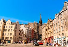 Street view of Edinburgh, Scotland, UK Stock Image
