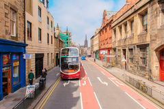 Street view of Edinburgh in uk Royalty Free Stock Photography