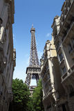 Street view on Eiffel tower in Paris, France Stock Images