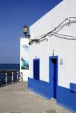 Street view in El Cotillo village on Fuerteventura, Spain Stock Photo