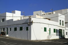Street view in El Cotillo village on Fuerteventura, Spain Royalty Free Stock Photography