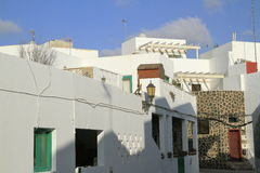 Street view in El Cotillo village on Fuerteventura, Spain Stock Image