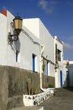 Street view in El Cotillo village on Fuerteventura, Spain Royalty Free Stock Photo