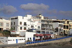 Street view in El Cotillo village on Fuerteventura, Spain Stock Photos