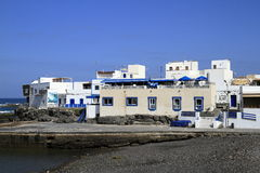 Street view in El Cotillo village on Fuerteventura, Spain Stock Photography