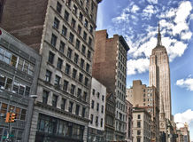 Street View of the Empire State Building Stock Photography