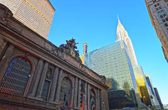 Street view on Entrance in Grand Central Terminal Building Stock Images