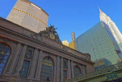 Street view of the Entrance in Grand Central Terminal Building Stock Photos