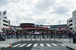 Street View of Entrance to Nationals Park for Washington Nationals Ball Park. Street entrance to the Nationals Park in Washington, DC where the Washington Royalty Free Stock Images