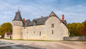 Street view with facade of Castle Stock Photo