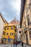 Street view with famous cathedral in Florence, Italy Royalty Free Stock Photography