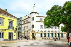 Street view of Faro, Portugal stock photography