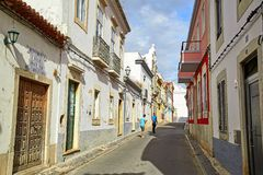Street view of Faro, Portugal royalty free stock images