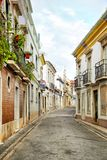 Street view of Faro, Portugal stock photo