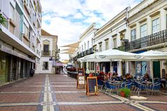 Street view of Faro, Portugal stock image