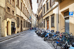 Street view of Florence stock photo
