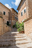 Street view from Fornalutx Mallorca Spain Royalty Free Stock Photography