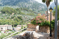 Street view from Fornalutx Mallorca Spain Stock Images