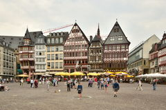A street view in Frankfurt on the Main, Germany Royalty Free Stock Images