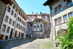 Street view of Fribourg Royalty Free Stock Photo