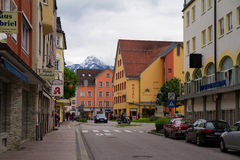 Street view of Fussen city, Germany Royalty Free Stock Image