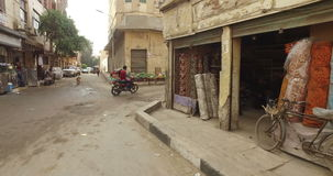 Street view of Giza in Egypt stock video