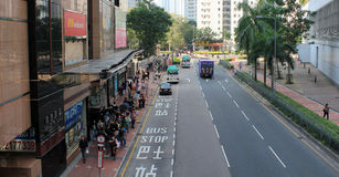 Street view in Hang Hau Stock Photo