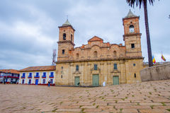 Street view, historic Cathedral of Santisima Royalty Free Stock Images