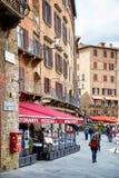 Street view of historic city Siena, Italy Royalty Free Stock Image