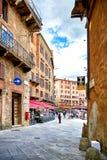 Street view of historic city Siena, Italy Royalty Free Stock Photography