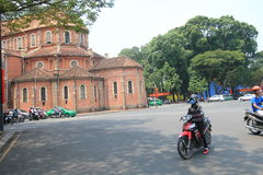 Street view of Ho Chi Minh City in Vietnam Royalty Free Stock Photography
