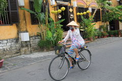 Street view of Hoi An Ancient Town in Vietnam Stock Images