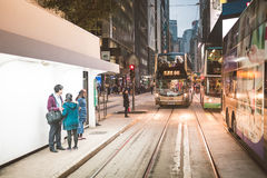 Street view in Hong Kong Central Royalty Free Stock Photography