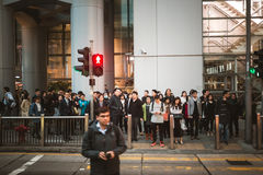 Street view in Hong Kong Central Stock Images
