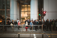 Street view in Hong Kong Central. March, 2017. People on street after work in Hong Kong Royalty Free Stock Photos