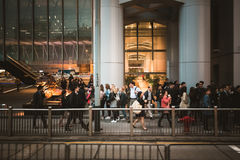 Street view in Hong Kong Central. March, 2017. People on street after work in Hong Kong Royalty Free Stock Images