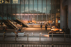 Street view in Hong Kong Central. March, 2017. People on street after work in Hong Kong Stock Images