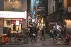 Street view in Hong Kong Central. March, 2017. People on street after work in Hong Kong Stock Photo