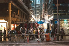 Street view in Hong Kong Central Royalty Free Stock Images
